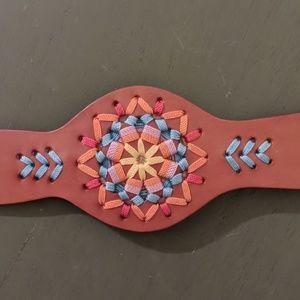 """desert valley leather cuff"" bracelet. SO BOHO☀️"